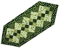 Quilted Table Runner St. Patrick's Day Table Runner