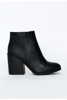 Paulee Snake Print Ankle Boots