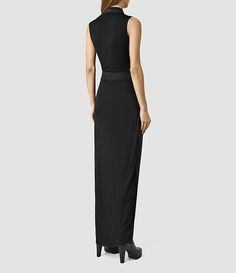 Womens Lani Dress (Black/Black) - product_image_alt_text_3