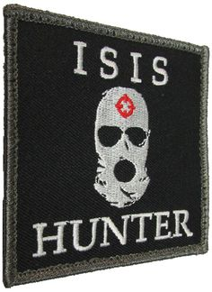 ISIS HUNTER US ARMY USA MILITARY ISAF ALLIED TACTICAL SWAT VELCRO MORALE PATCH