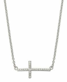 Victoria Townsend Sterling Silver Diamond Accent Sideways Cross Necklace>>Just ordered on the way to my house yay!!