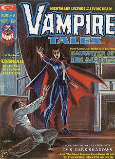 Vampire Tales 6 cover by Boris Vallejo featuring Lilith Daughter of Dracula, 1974