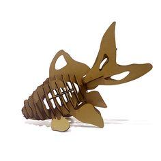 3d Puzzle Fish Paper Craft Goldfish Model Cute Kids Educational Toys Children DIY Cardboard Animal Papercraft #walldecoration #diy #cardboard #paper #walldecor #creative #homedecoration #officedecoration #homedecor #officedecor #fish #papermaker