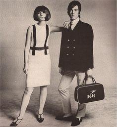 BLACK COMEDY (London mod style - Richard Avedon's HARPER'S BAZAAR april 1965 Chrissie Shrimpton and Doug Gibbons)
