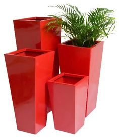 Flared Square Planter Plant Pot only make them a satin black