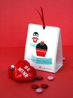 Penguin Valentine's Day Treat Holder Cards