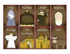 nativity memory game printable