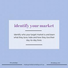 MUA Biz Tip:  Identify your market Winning makeup artist business tips