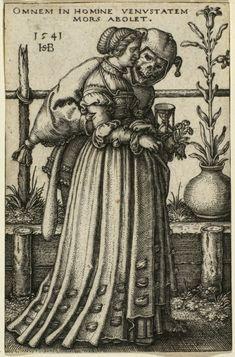 Hans Sebald Beham  The Lady and Death  1541
