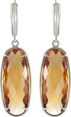 Genuine Honey Quartz Lever Back Earrings  | To find a retailer near you, visit stuller.com/locateajeweler/