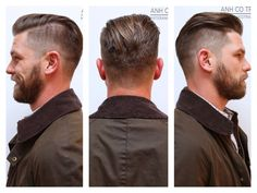 New vintage men haircut david beckham ideas Cool Hairstyles For Men, Haircuts For Men, Peaky Blinder Haircut, Hair And Beard Styles, Long Hair Styles, David Hair, Gents Hair Style, Great Beards, Coarse Hair