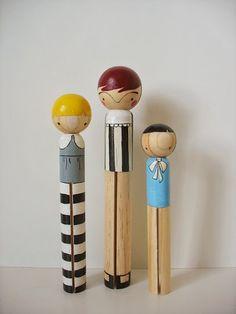 handmade wood folk art giant round clothespin by mooshoopork