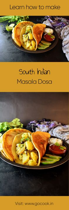 Learn how to make Masala Dosa, a delicious South Indian Breakfast with this easy to follow recipe!