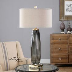 """Found it at Wayfair - Vilminore 33.25"""" H Table Lamp with Drum Shade"""