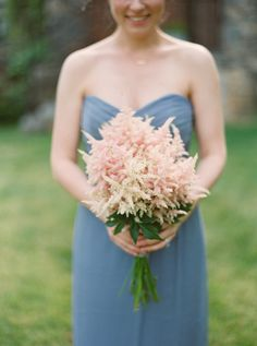 Astilbe bouquet: http://www.stylemepretty.com/2015/07/30/elegant-spring-wedding-at-blue-hill/ | Photography: Kate Ignatowski - http://www.kateignatowski.com/