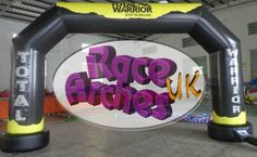 Total Warrior 6m arch fully printed on 0.4mm pvc, with extra wide feet