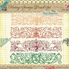 de très beaux motifs de volutes... en téléchargement gratuits sur Star Sunflower Studio