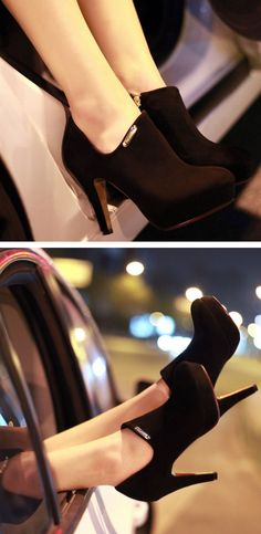 Sexy Suede Ankle Booties ♥