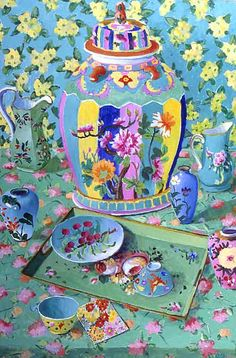 Painting by Kaffe Fassett.