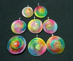 translucent polymer clay Alle Regenbogenbutton zusammen by ilex123, via Flickr