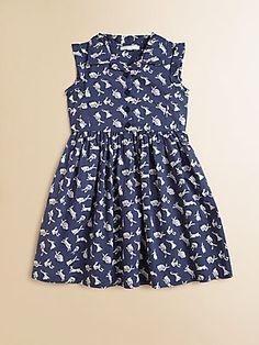 Marie Chantal Toddler's & Little Girl's Rabbit Print Dress http://rubyandkitty.com/en/dresses/59-shirt-dress-and-knicker.html