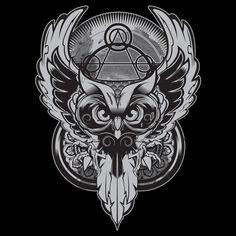 owl t shirt design