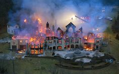 Four million dollar mansion burns to the ground in Ohio.