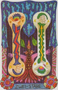 Gypsy Tarot - Two of Wands