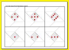 Dados de Origami Imprimibles Origami, Games, Activity Toys, Home Made, How To Make, Paper Envelopes, Paper Crafts, Printables, Origami Paper