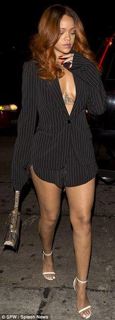 Rihanna and Karim Benzema arrive at the same nightclub as Chris Brown
