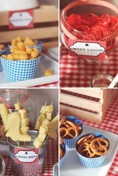Cowboy Use cookie cutters to cut shapes out of cheese
