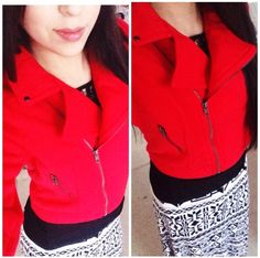 Aztec and Red modest outfit ideas