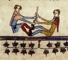 Tug o'war game. Flemish 1338-44. Bodl.264 by Tony Harrison on flickr