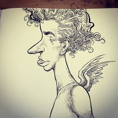 - Realising how Chris has purposefully made his drawings go past the page, I like this never-ending feel. I hope it's intentional. Cherub, Past, Feelings, Drawings, Male Witch, Past Tense, Sketches, Drawing, Portrait