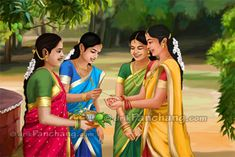 This page list Ugadi images and pictures. All images related to Hindu festival Ugadi which is also known as Telugu New Year are listed on this page. Indian Women Painting, Indian Art Paintings, Hindu Festivals, Indian Festivals, Indian Traditional Paintings, Festival Paint, Indian Art Gallery, Drawings Pinterest, Insta Image