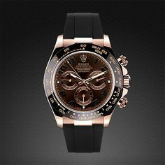 Contemporary customization. Rolex Daytona on Strap Rose Gold - Classic Series | RUBBER B | RUBBER STRAP FOR ROLEX, PANERAI, WATCHES