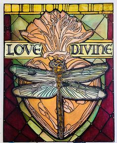 Dragonfly Original Art | Heart, Contemporary Style | Modern Wall Art | Love Divine Heart Original Painting, Canvas Panel | 16x20 | Catholic Dragonfly Illustration, Heart Illustration, Paper Illustration, Illustrations, Pretty Art, Cute Art, Dragonfly Decor, Original Art, Original Paintings