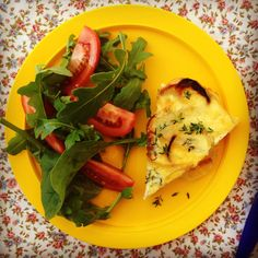 Miss G. had this gorgeous potato, onion and cheese frittata for lunch today and she absolutely loved it. A big fan of potato I was pretty confident she would. And for me, this golden fluffy frittat...