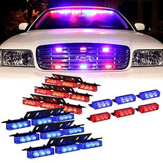 Signal Lamp Bright 8 Led Strobe Flashing Deck High Power Warning Light Red/blue Red Amber Police Emergency Fireman Flashing Fire Flash Car Truck In Many Styles