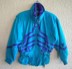 TYROLIA Ski Jacket Size 12 Blue Clima Control Waterproof MicroSeal  Windproof  Tyrolia  SkiJacket Vintage cbc816f14a51