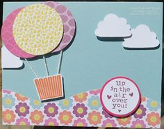 Fun decorations for a girls tea party with cute tea sets and yummy cupcakes  Stampin' Up! Cupcake Punch for hot air balloons! | Lovely Food | Scoop.it