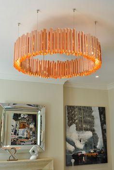 LED Copper Facet Chandelier. Lighting We Love at Design Connection, Inc. | Kansas City Interior Design http://www.DesignConnectionInc.com