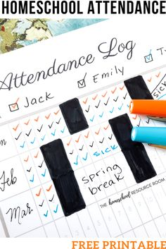The EASY Solution for Homeschool Attendance Records + Free Tracker Homeschool Attendance Record Free Printable Attendance Log, Attendance Tracker, Homeschool Apps, Homeschooling Resources, Learning Activities, Teaching Resources, M Jack, Innovation, Geography For Kids, Resource Room