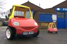 Grown-up Little Tikes Cozy Coupe is your inner five-year-old's street-legal dream. http://aol.it/1n3guA3
