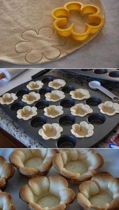 Flower pastries