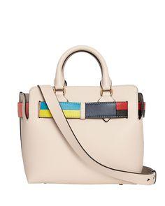 26c1efcfd40f Burberry Marais Small Geometric Belted Leather Satchel Bag