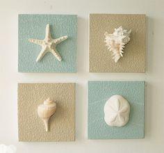 nice Beach Decor on Driftwood Panel for Coastal Wall Decor (Guest Room)...
