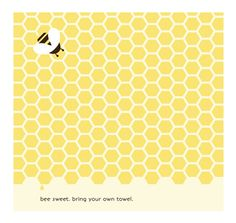 Bee Sweet Sustainable Hand Towel from The Good Buy