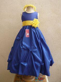 Ebay yellow flower girl dress