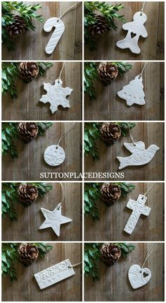 Ways To Use That Room Below Your Stairs Christmas Clay Tags 2015 Collection Of Handmade Clay Tags For Your Holiday Decorating. Use For Christmas Tree Ornaments, Gift Tie-Ons, Garlands, Napkin Holders And More. Clay Christmas Decorations, Polymer Clay Christmas, Diy Christmas Ornaments, Christmas Projects, Holiday Crafts, Ornaments Ideas, Handmade Ornaments, Homemade Decorations, Polymer Clay Ornaments